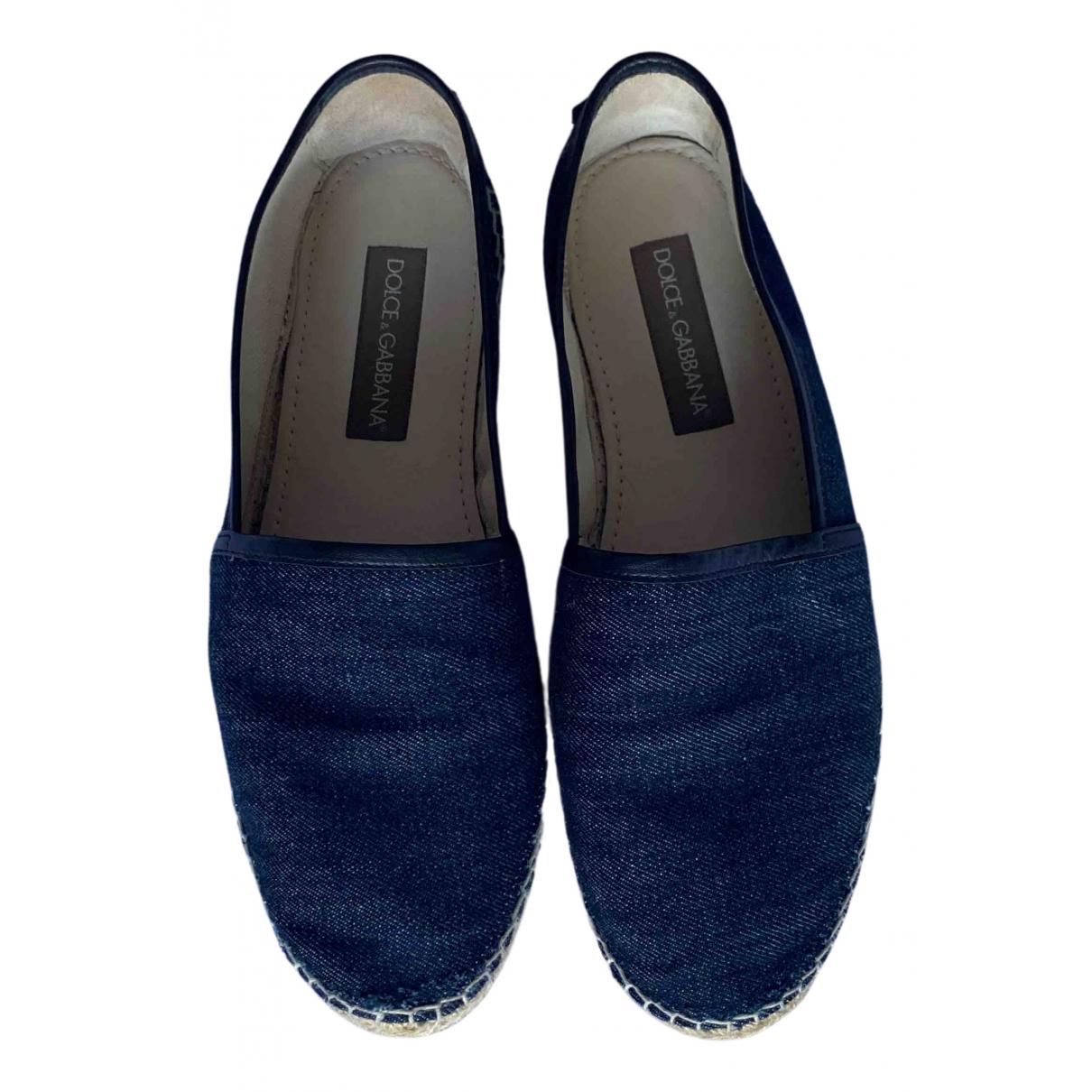 Dolce & Gabbana \N Espadrilles in  Blau Leinen