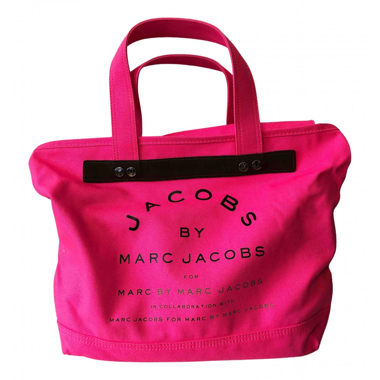 Marc By Marc Jacobs \N Handtasche in  Rosa Leinen
