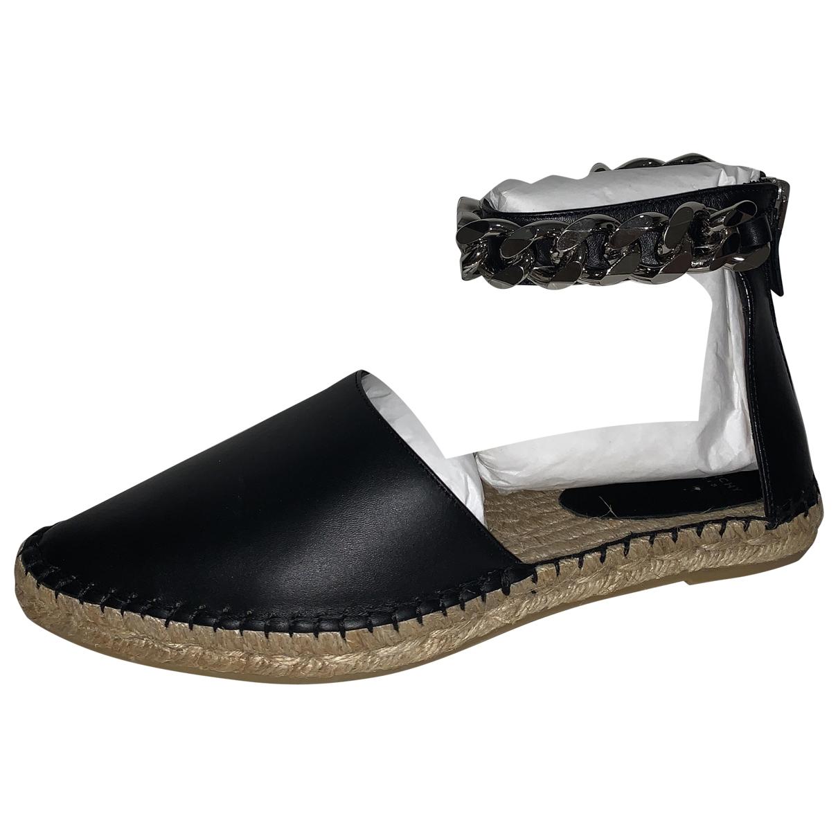 Givenchy - Espadrilles   pour femme en cuir - noir