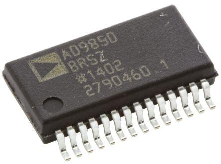 Analog Devices AD9850BRSZ, Direct Digital Synthesizer 10 bit-Bit 125000ksps, 28-Pin SSOP