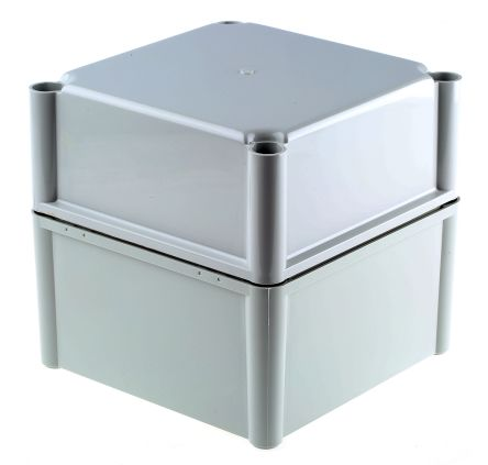 Fibox SOLID PC, Grey Polycarbonate Enclosure, IP66, IP67, 188 x 188 x 180mm