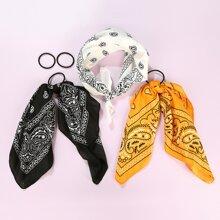 5pcs Paisley Pattern Hair Accessory Set
