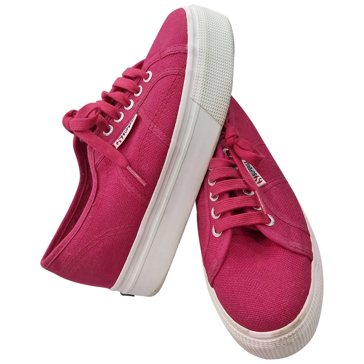 Superga \N Burgundy Cloth Trainers for Women 39 EU