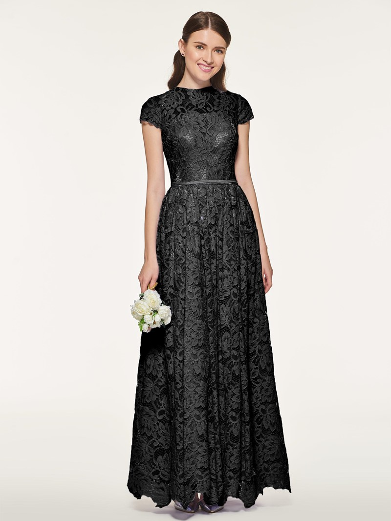 Ericdress A Line Lace Long Bridesmaid Dress