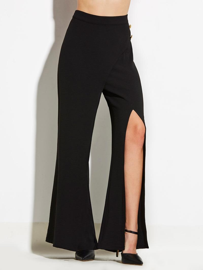 Ericdress Slim Plain Slit Women's Pants