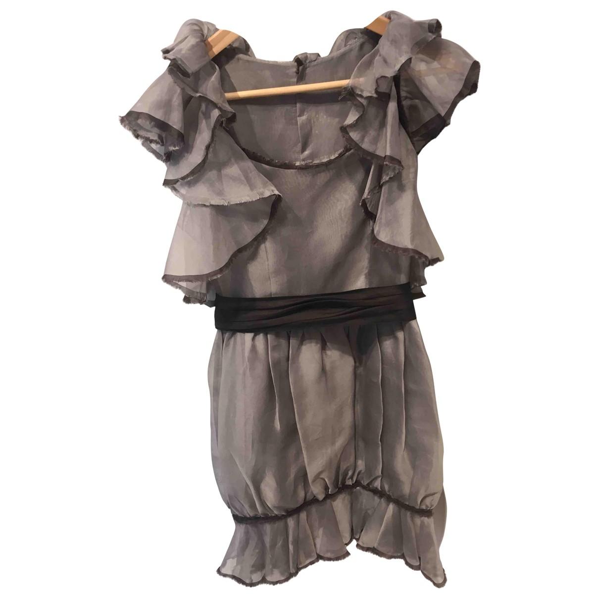 Chanel \N Kleid in  Grau Seide