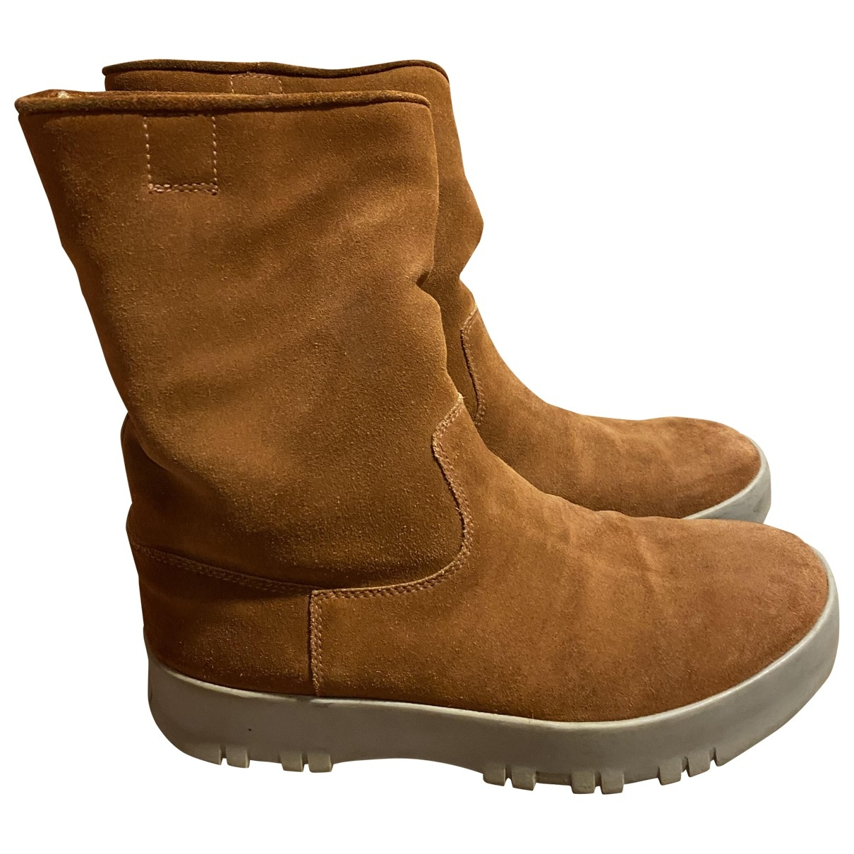 Prada \N Beige Suede Boots for Women 38 EU