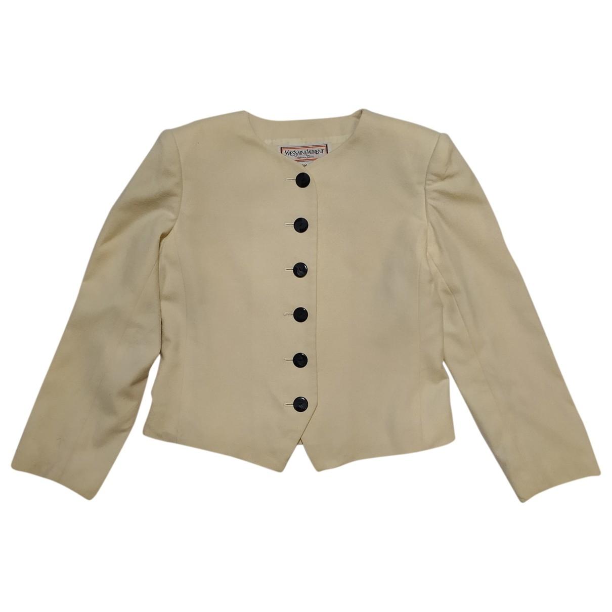 Yves Saint Laurent \N Ecru Wool jacket for Women M International