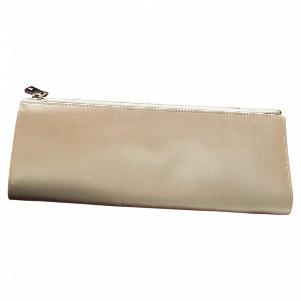 Armani Collezioni - Pochette   pour femme en soie - beige