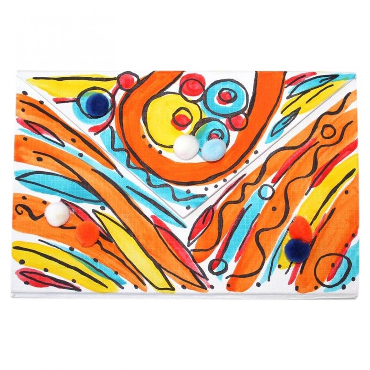 - Pochette   pour femme en cuir - multicolore