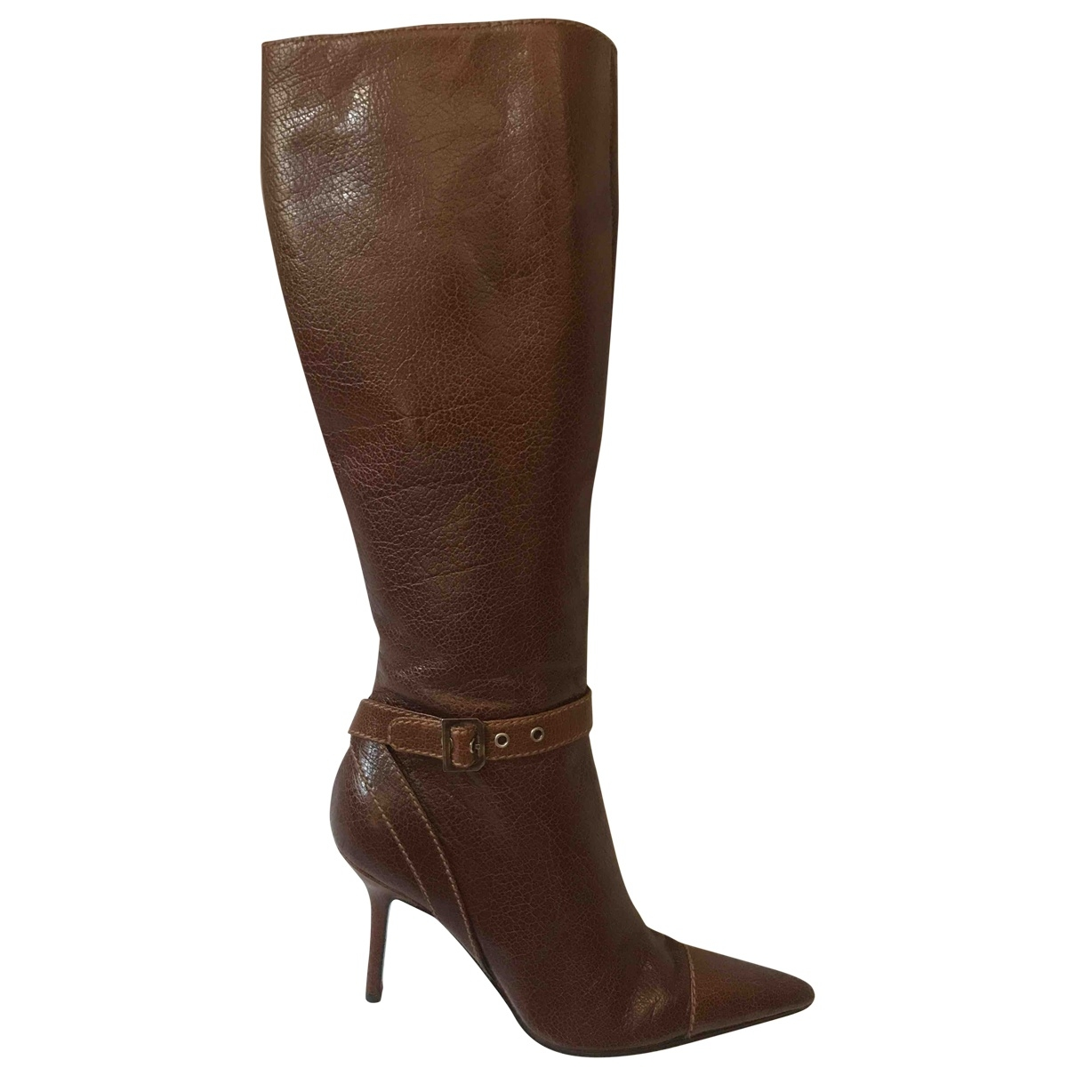 Dolce & Gabbana \N Brown Leather Boots for Women 38 EU