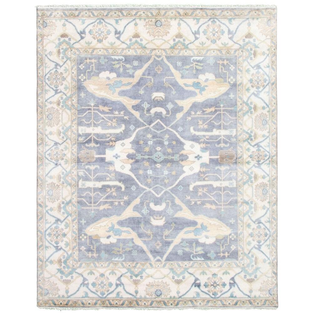 ECARPETGALLERY  Hand-knotted Royal Ushak Violet Wool Rug - 8'2 x 10'1 (Light Violet - 8'2 x 10'1)