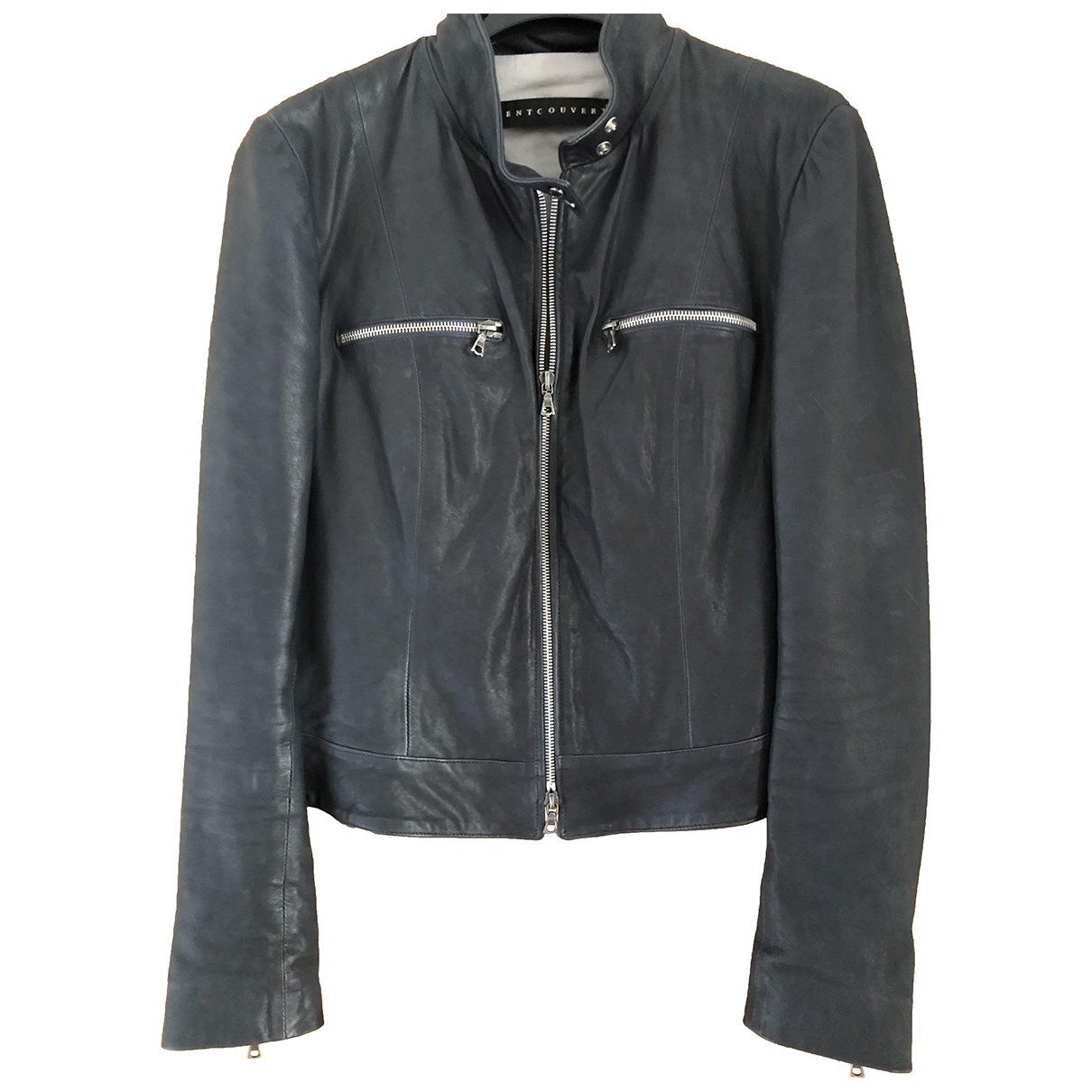 Ventcouvert N Anthracite Leather jacket for Women 38 FR