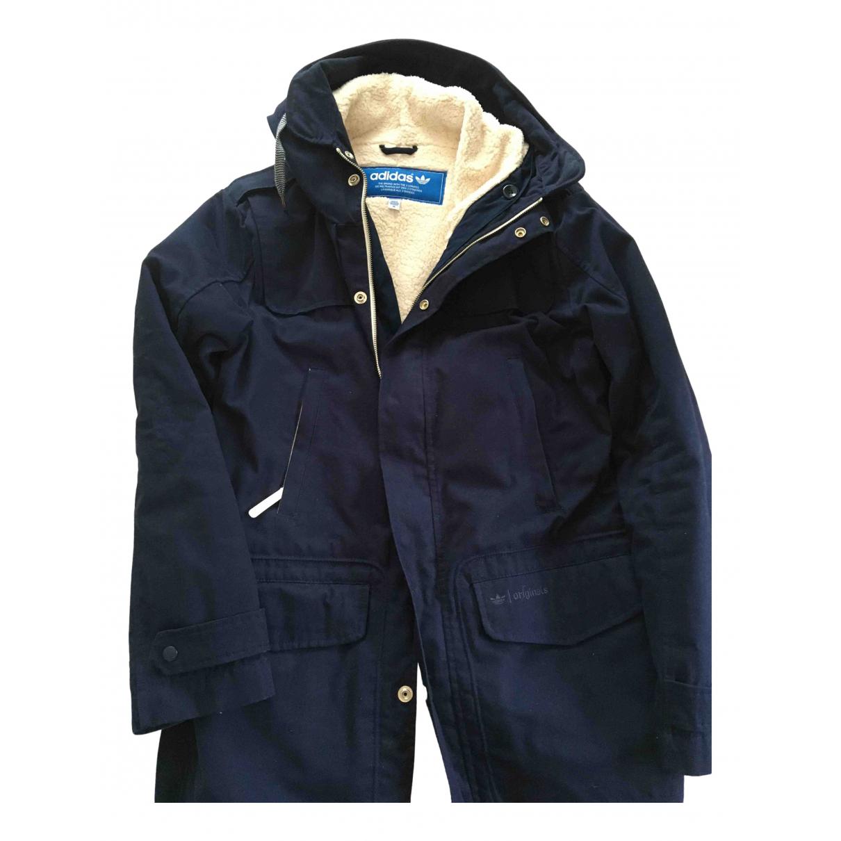 Abrigo en Algodon Azul Adidas