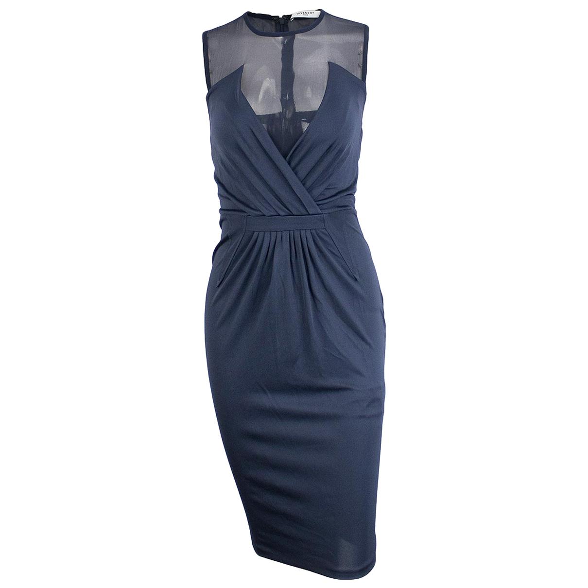 Givenchy \N Kleid in  Marine Seide