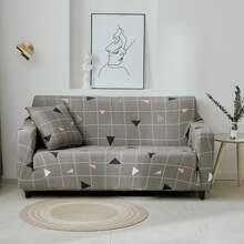 Sofabezug mit Dreieck Muster ohne Kissen