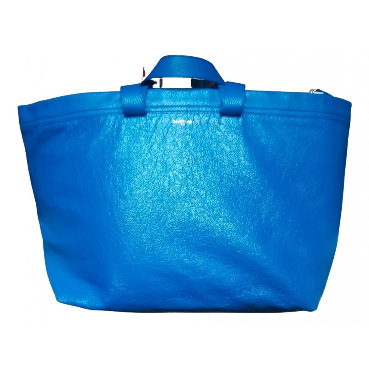 Balenciaga - Sac   pour homme en cuir - bleu