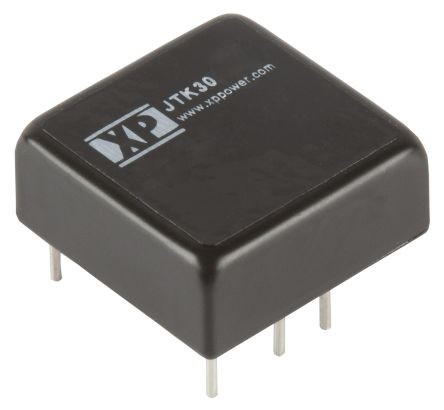 XP Power JTK30 30W Isolated DC-DC Converter Through Hole, Voltage in 18 → 75 V dc, Voltage out 15V dc