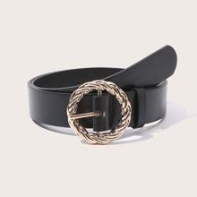 Twist Round Buckle Belt