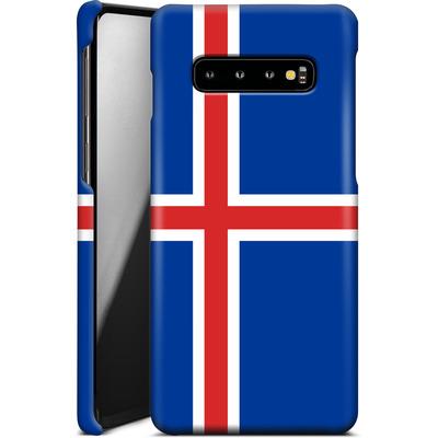 Samsung Galaxy S10 Plus Smartphone Huelle - Iceland Flag von caseable Designs