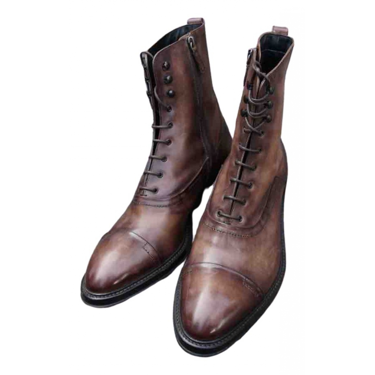 Berluti \N Brown Leather Boots for Men 45 EU