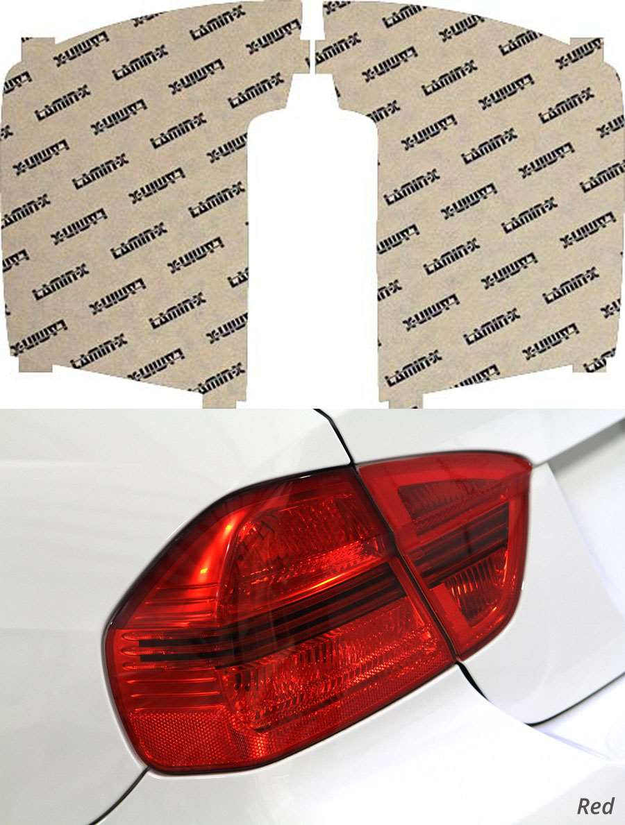 Kia Rondo 07-10 Red Tail Light Covers Lamin-X K206R