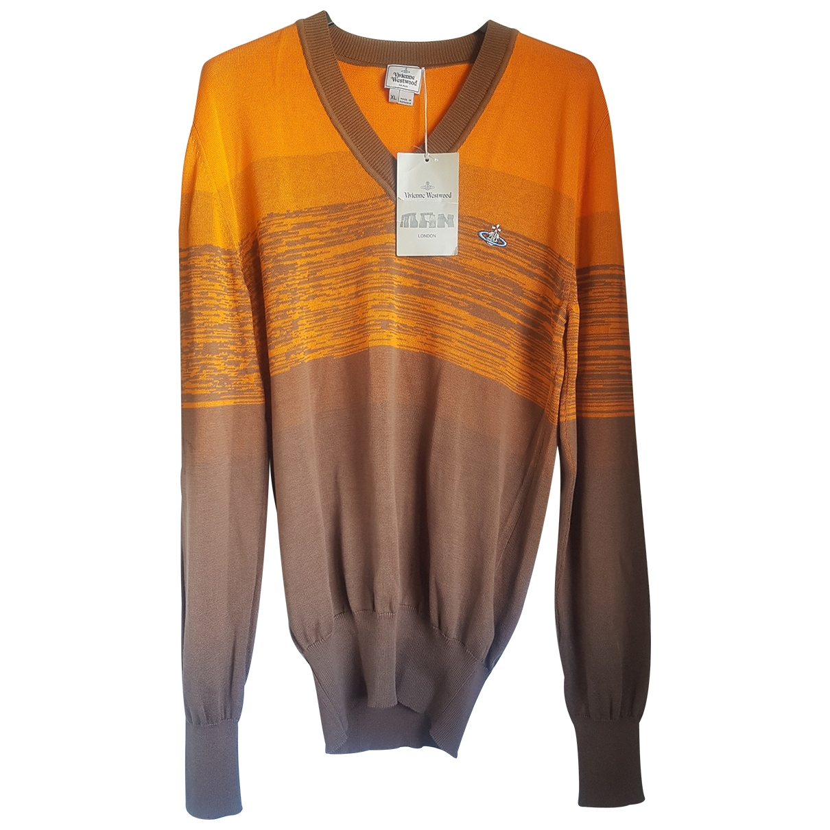 Vivienne Westwood \N Orange Cotton Knitwear & Sweatshirts for Men XL International