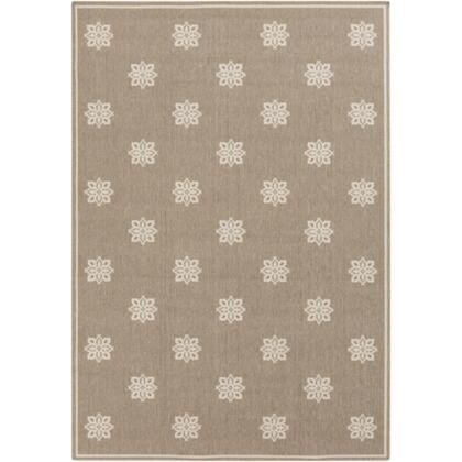 Alfresco ALF9607-5376 53 x 76 Rectangular 100% Polypropylene Rug with No Shedding  Easy Care  Low Pile  Loop Texture  and Machine Made in Egypt