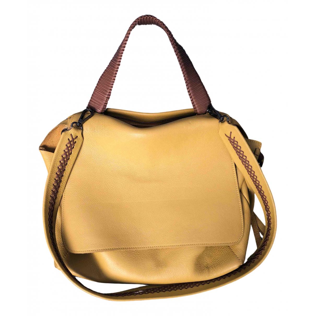 Callista Crafts \N Yellow Leather handbag for Women \N
