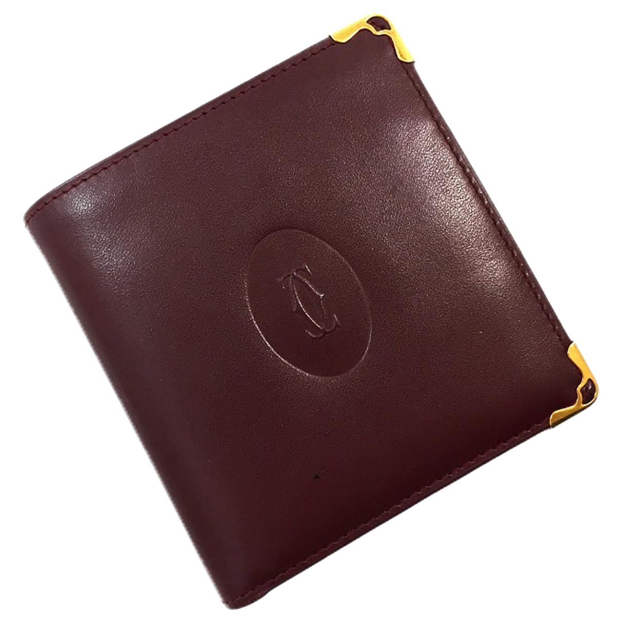 Cartier - Petite maroquinerie   pour homme en cuir - noir