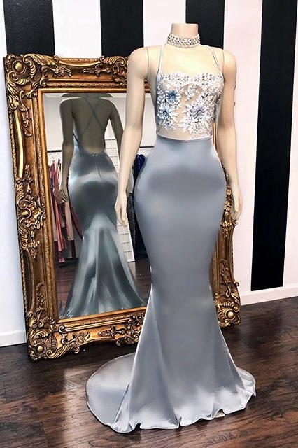 Paillettes sexy sans manches robes de bal de sirene | Glitter 2021 Halter Red robes de soiree
