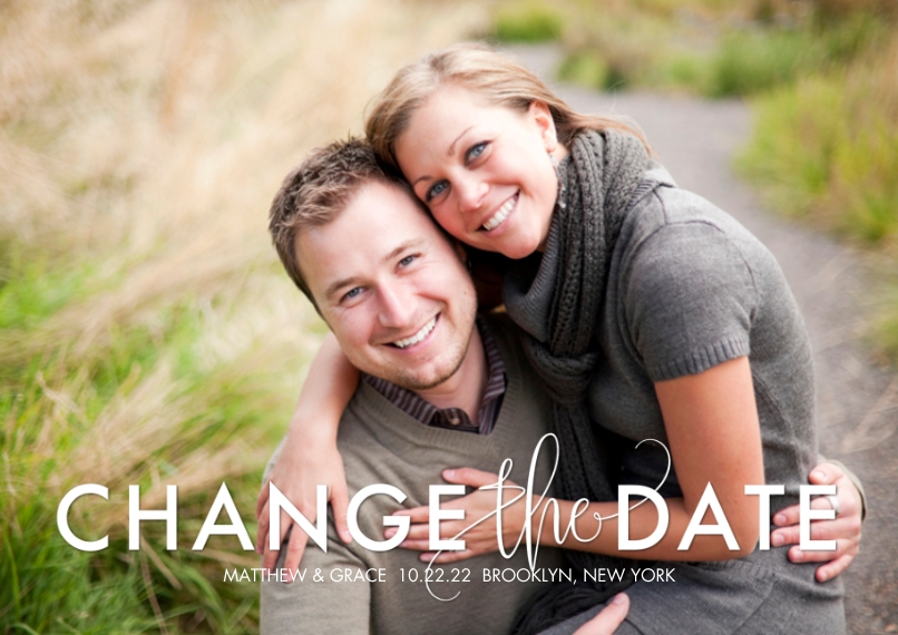Change the Date 5x7 Cards, Premium Cardstock 120lb with Elegant Corners, Card & Stationery -Change the Date Bold by Tumbalina