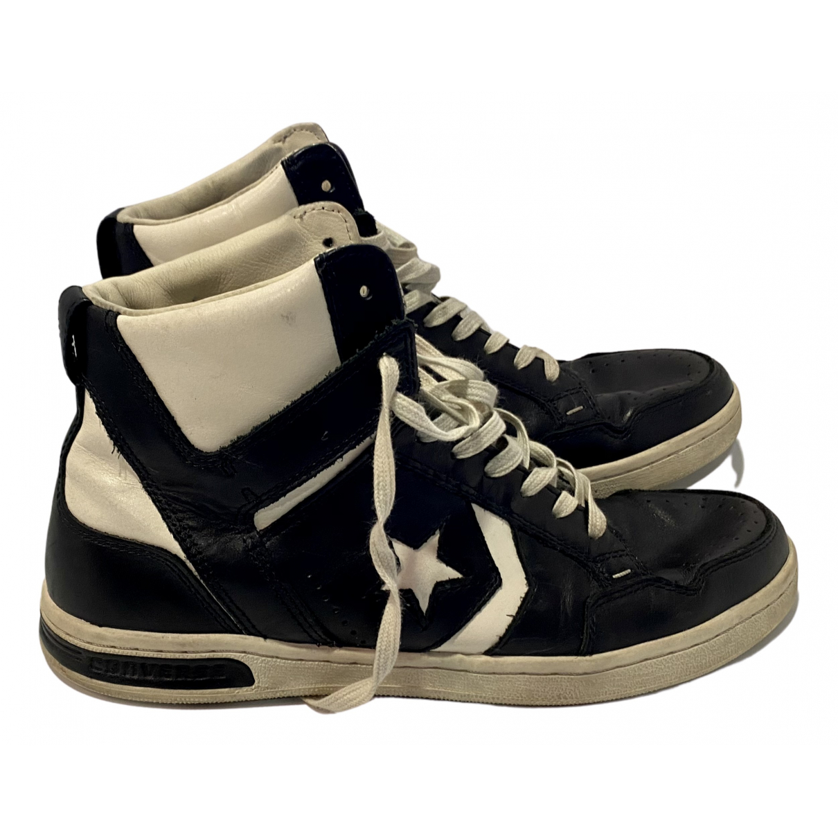 Converse N Black Leather Trainers for Men 44 EU