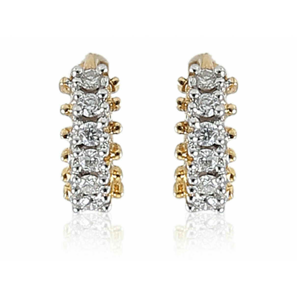 Non Signé / Unsigned Créoles Gold Yellow gold Earrings for Women \N