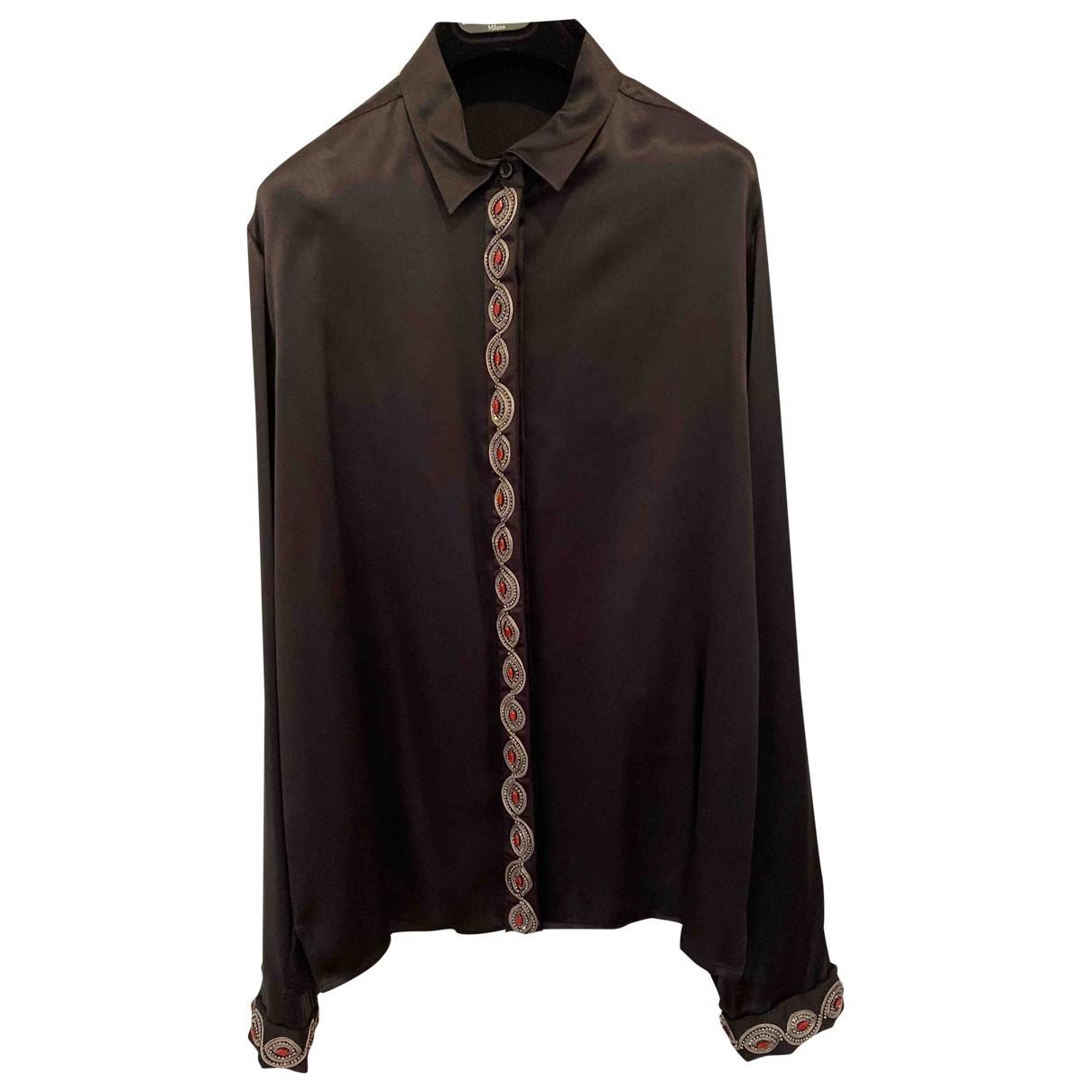 Etro \N Black Silk  top for Women 48 IT