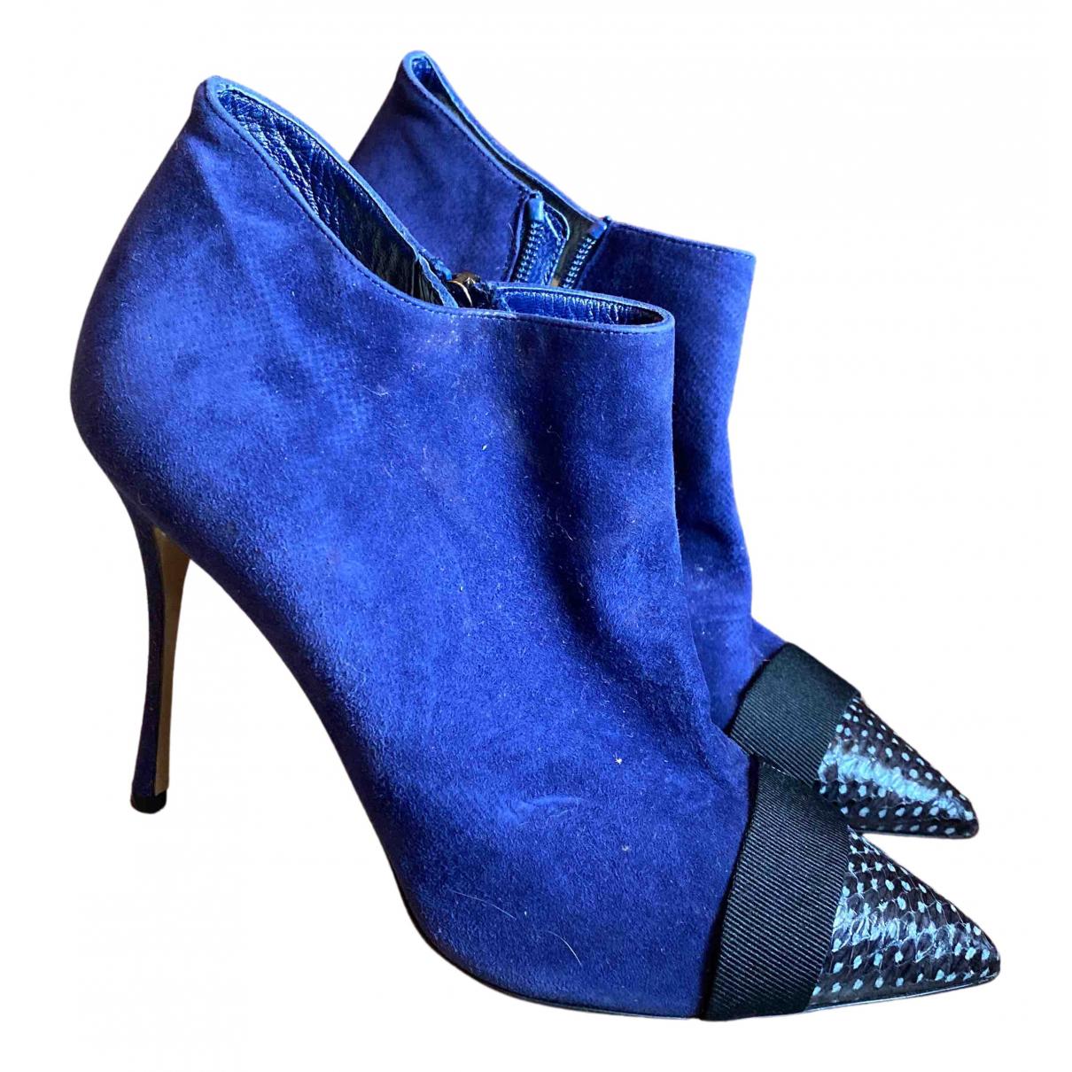 Nicholas Kirkwood \N Stiefel in  Blau Veloursleder