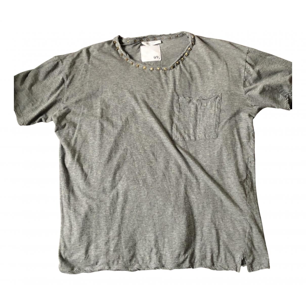 Valentino Garavani - Top   pour femme en coton - gris