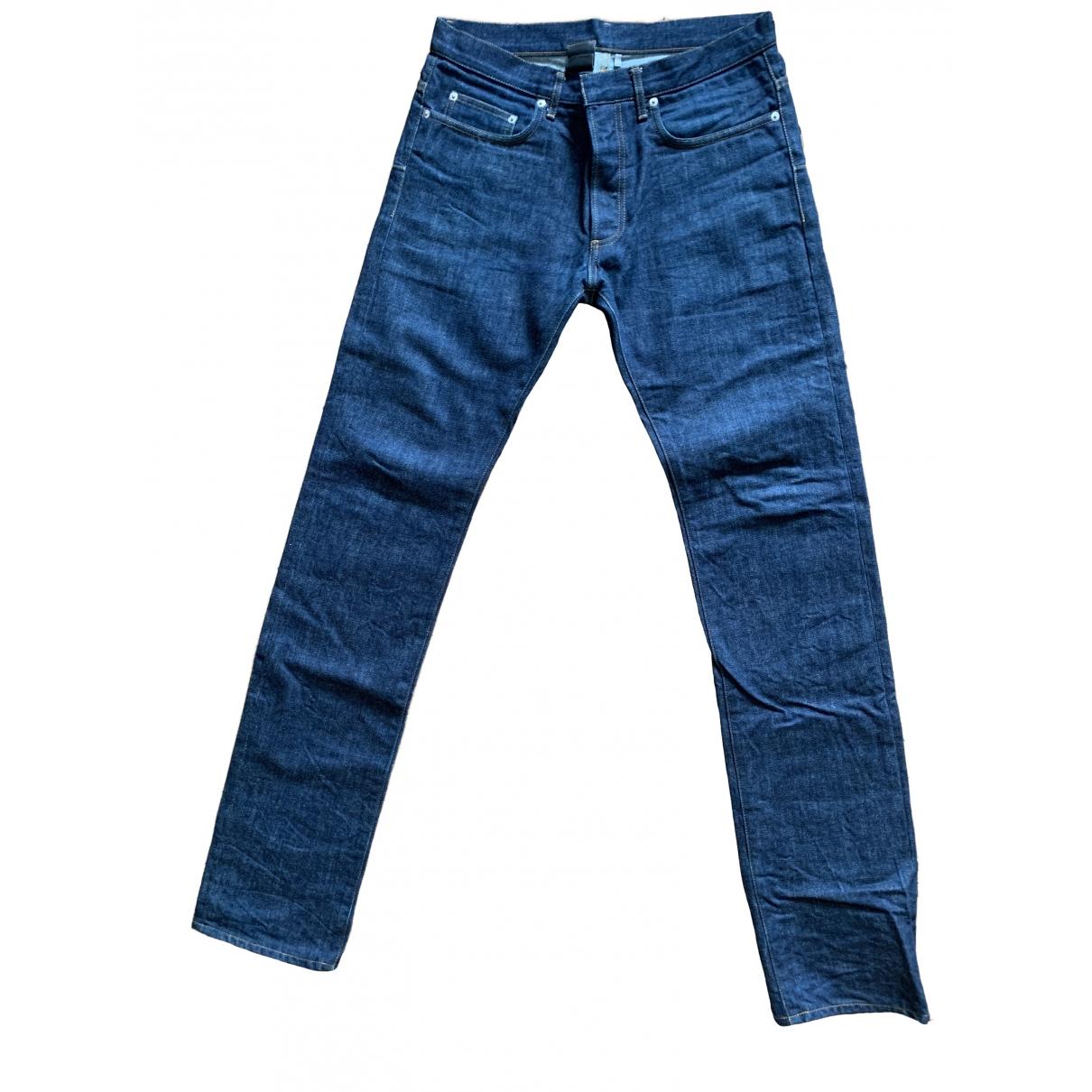 Dior Homme \N Blue Cotton Jeans for Men 31 US