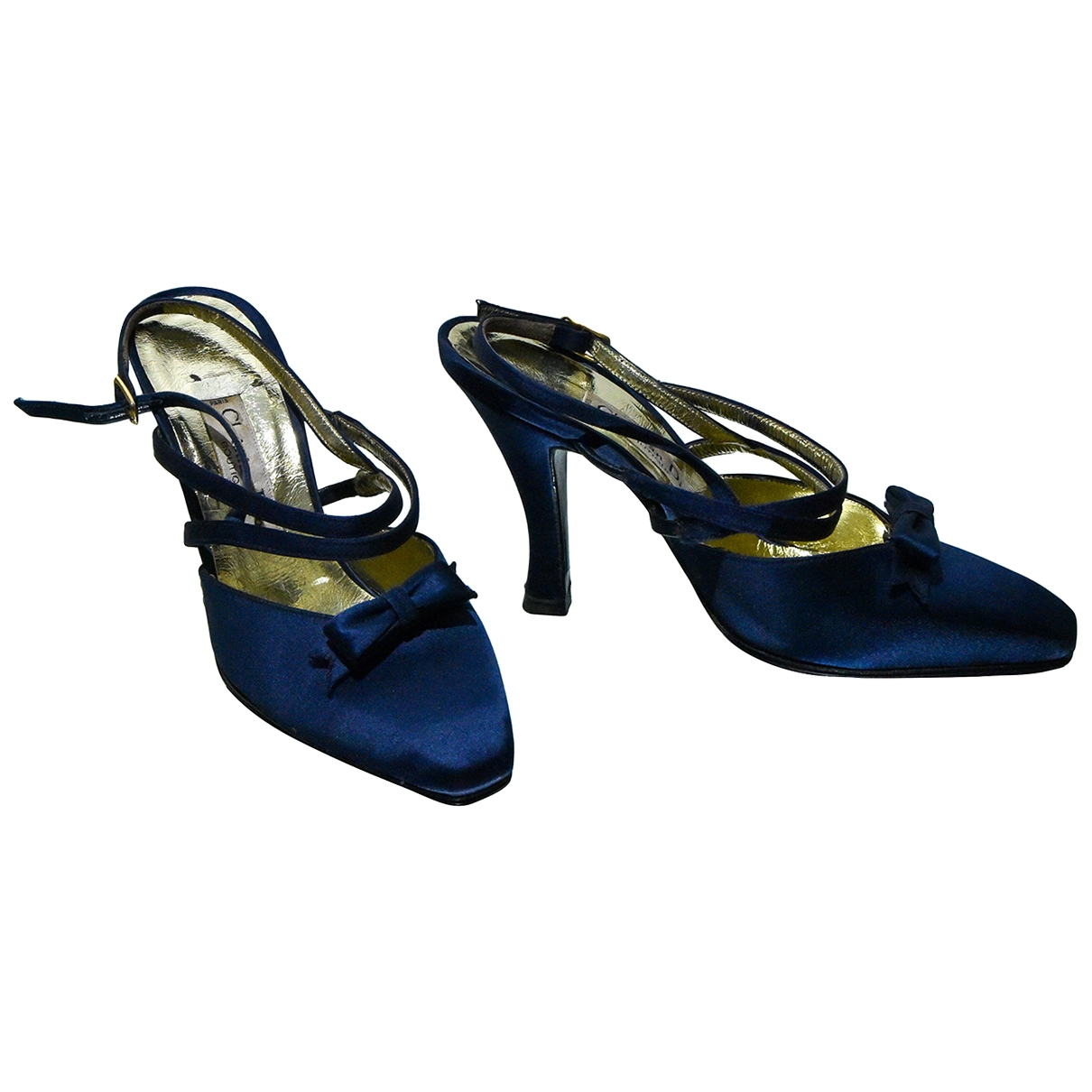 Dior - Escarpins   pour femme en toile - bleu