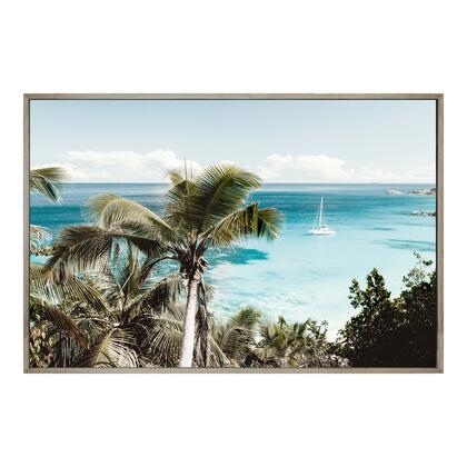 Tropical Bay Collection FX-1244-37 Wall Decor with Medium Density Fiberboard Frame in Multicolor