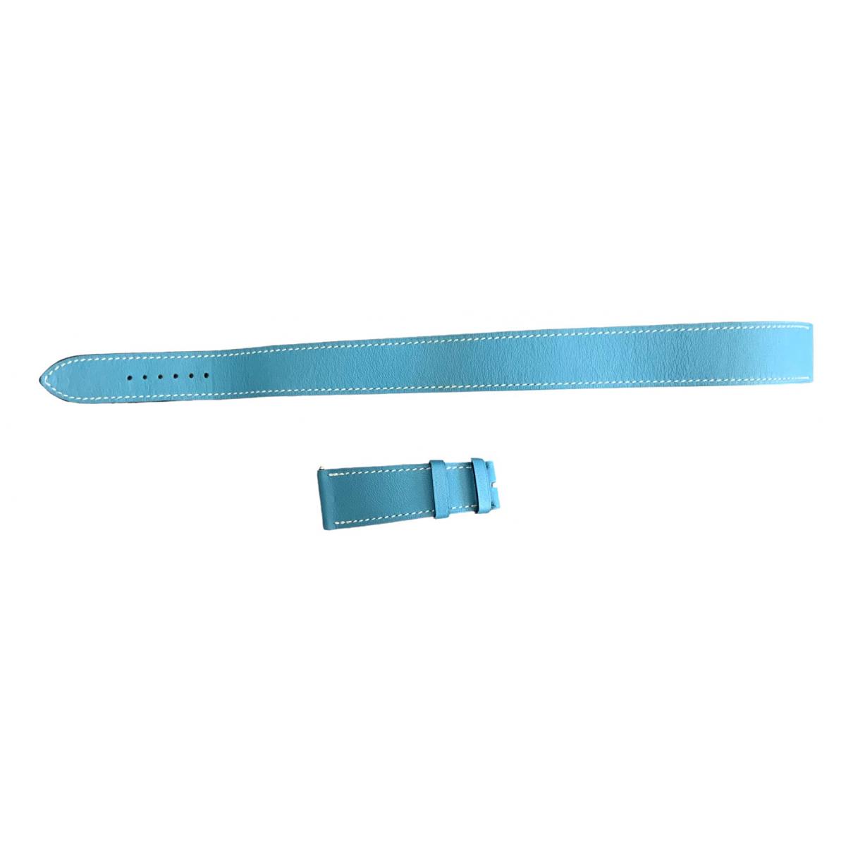 Hermes \N Uhr in  Blau Leder