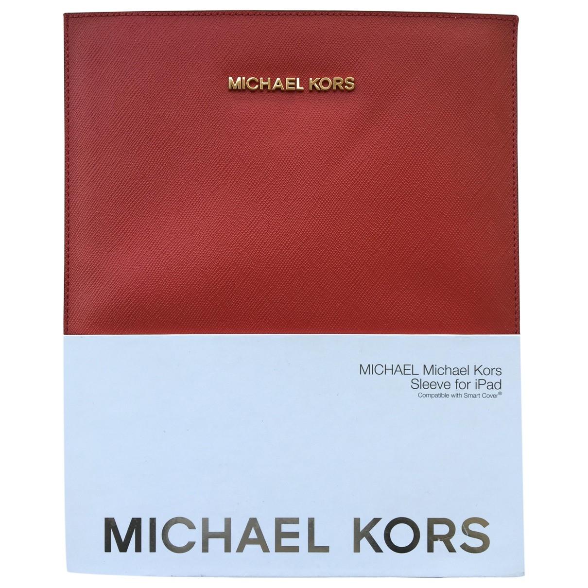 Michael Kors \N Accessoires in  Rot Leder