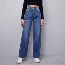 Bleach Wash Boyfriend Jeans
