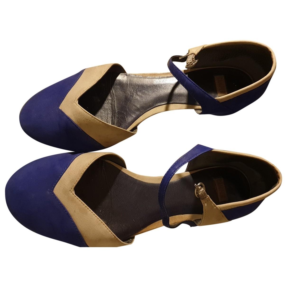 Camper - Ballerines   pour femme en cuir - bleu