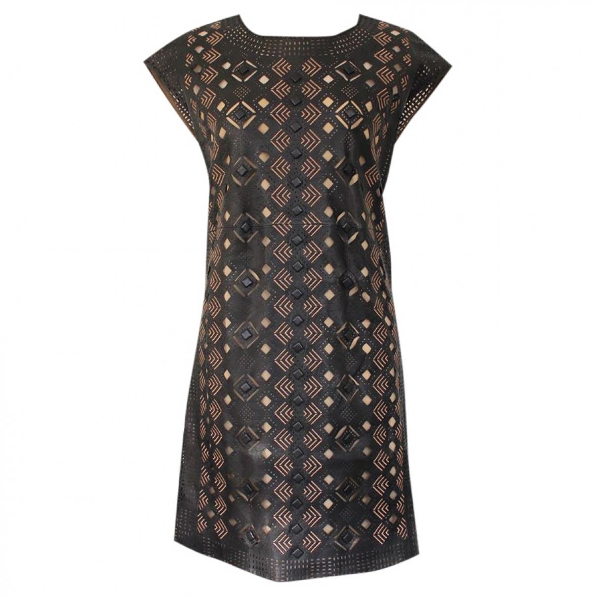Catherine Malandrino \N Kleid in  Schwarz Leder