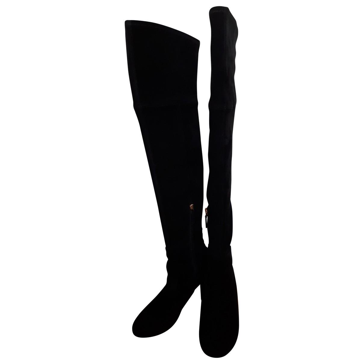 Tory Burch - Bottes   pour femme en suede - noir