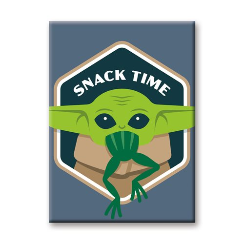 The Mandalorian The Child Snack Time Flat Magnet