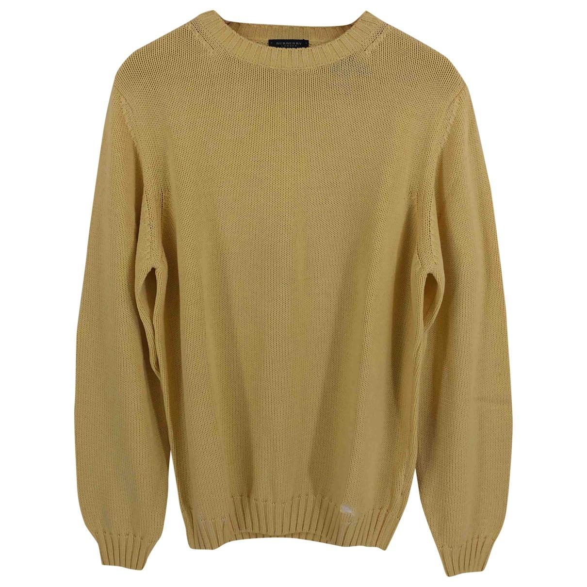 Burberry \N Yellow Cotton Knitwear & Sweatshirts for Men M International
