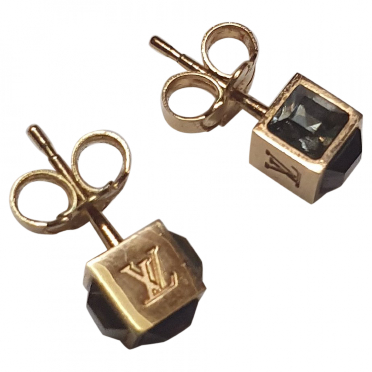 Louis Vuitton - Boucles doreilles Monogram pour femme en cristal - dore
