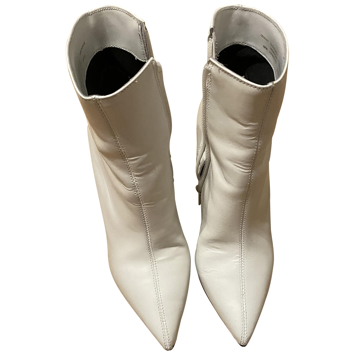 Dune \N White Leather Boots for Women 36 EU